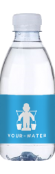 Reklamevand - kildevand med logo